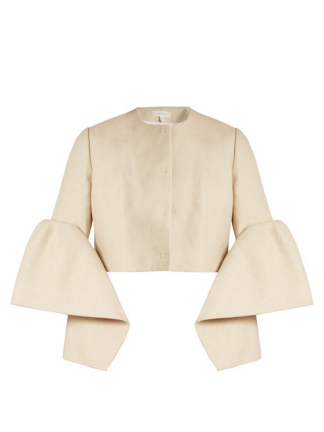 Delpozo Linen Cropped Jacket