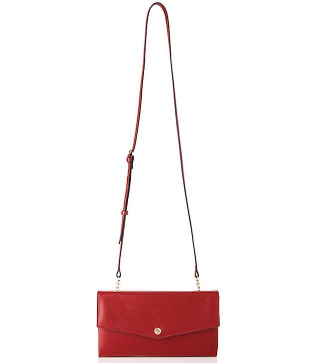 L.K.Bennett Dakoda Saffiano Leather Envelope Clutch Bag