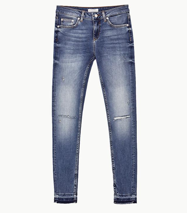 Zara Mid-Rise Distressed Jeans