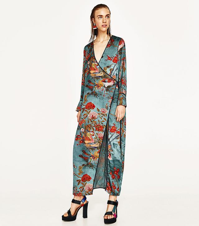 Zara Printed Kimono Dress