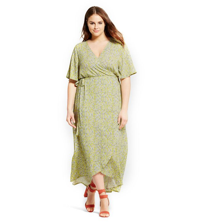 Who What Wear Plus Size Flutter Sleeve Maxi Dress