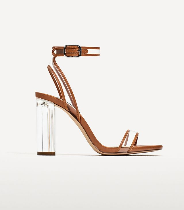 Zara Vinyl High Heel Sandals