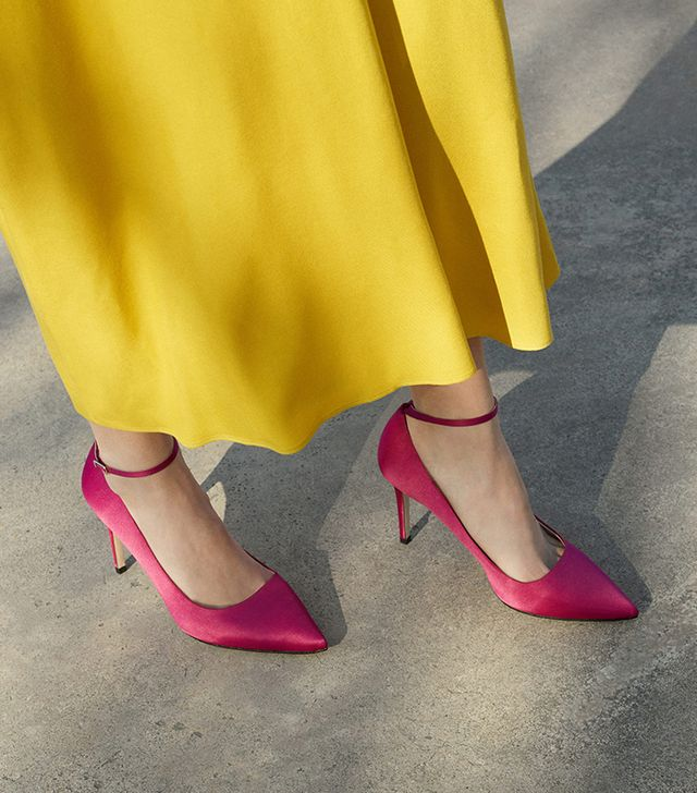 Mango Ankle-Cuff Stilettos