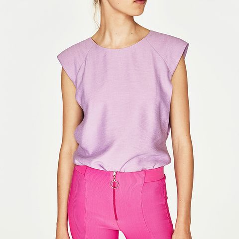 Top With Low Neckline at the Back