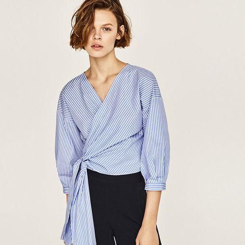 Striped Crossover Shirt