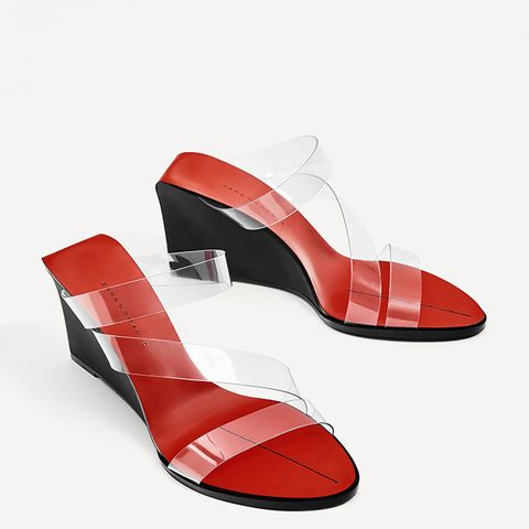 Backless Vinyl Sandals