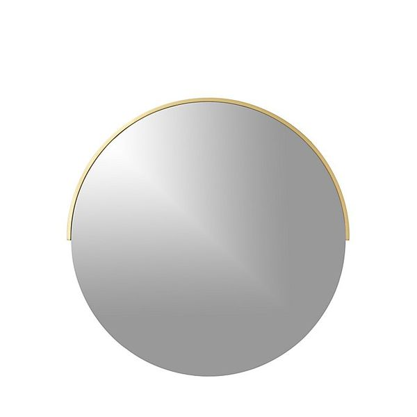 Crate and Barrel Gerald Small Round Wall Mirror