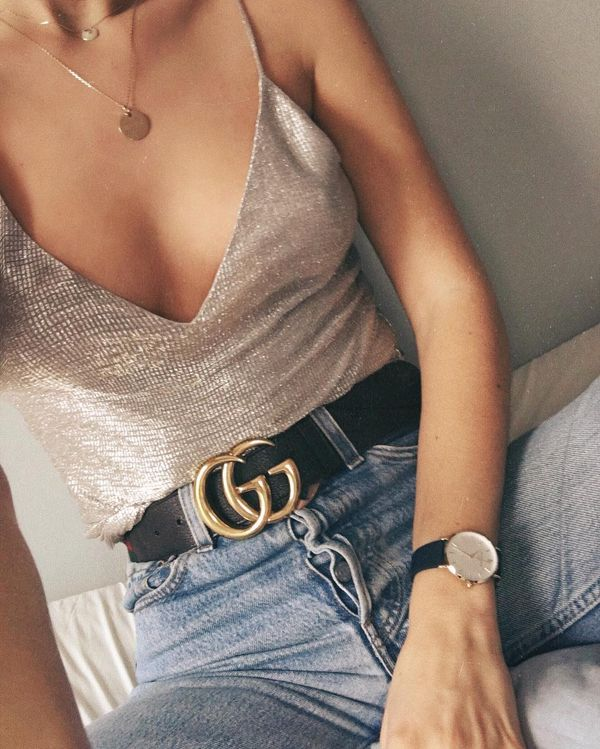 If any necklace can rival and complement the iconic Gucci belt, this is it.