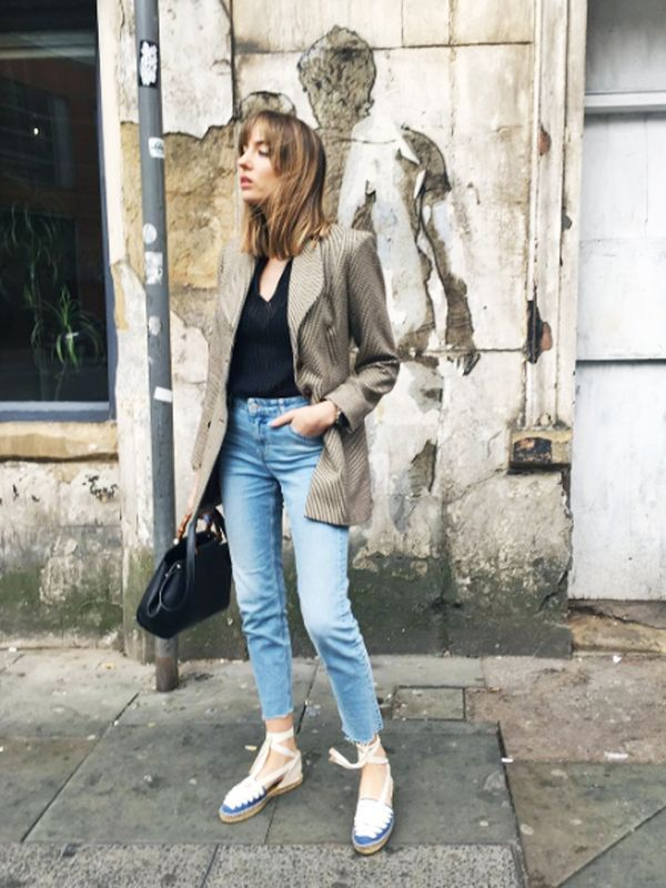 How to wear espadrilles: with jeans instead of trainers