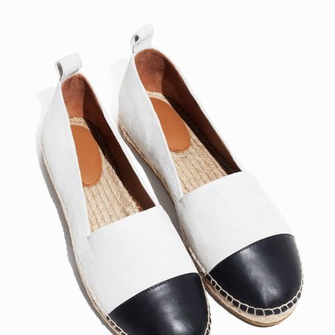 Leather and Suede Espadrilles