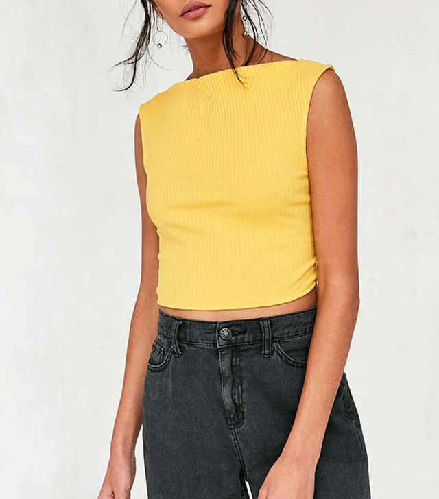 Silence + Noise Tie-Back Apron Top