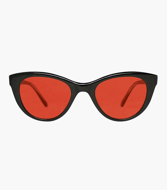 Garrett Leight Clare V. Collab Sunglasses in Ebene with Rouge
