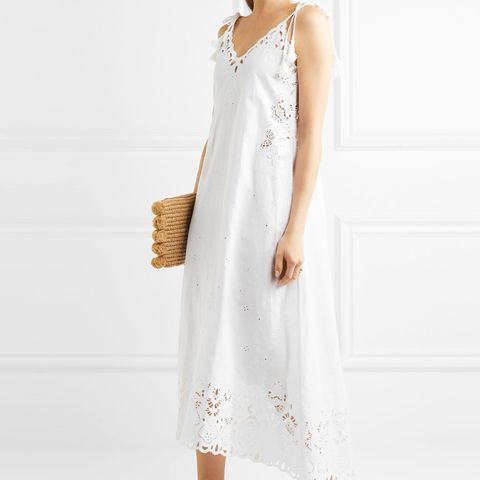 Taytee Broderie Anglaise Linen and Cotton-Blend Dress