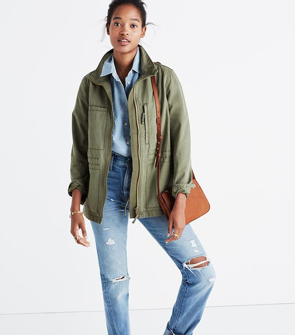 What to Pack for a Road Trip: Madewell Fleet Jacket
