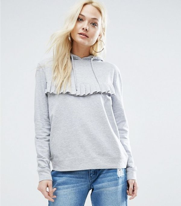 What to Pack for a Road Trip: Daisy Street Lightweight Hoodie With Ruffle Front