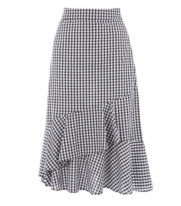 High Street Shopping Picks: Warehouse Gingham Ruffle Skirt