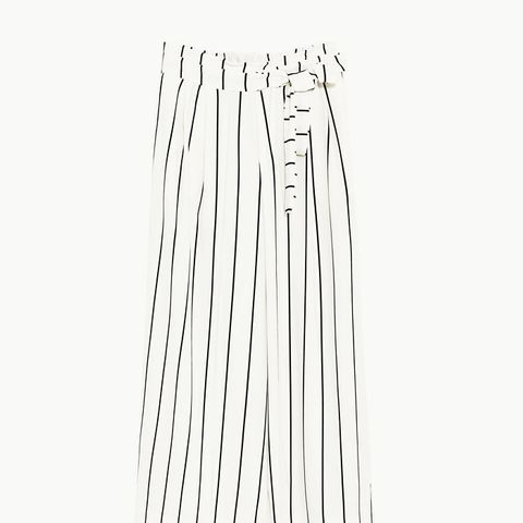 Cropped Trousers With Tie