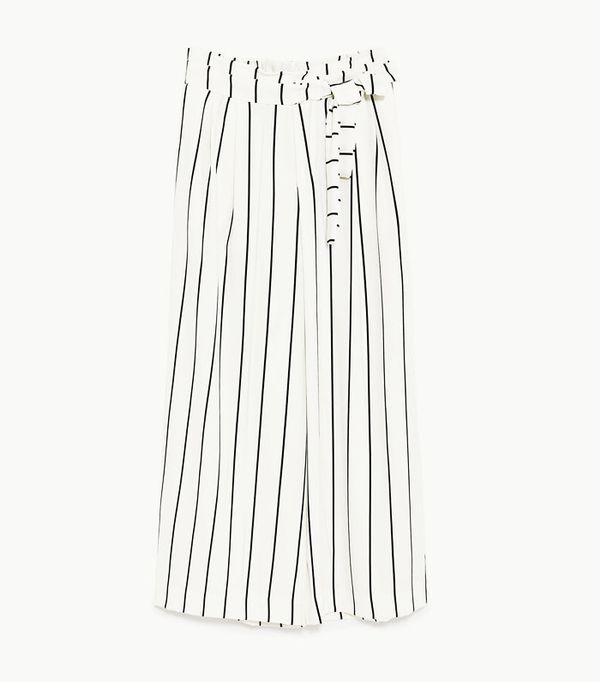 High Street Shopping Picks: Zara Cropped Trousers With Tie