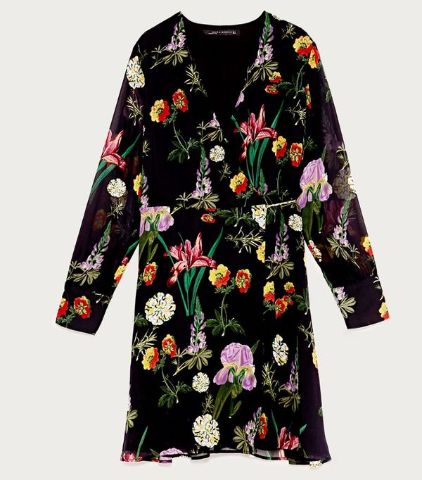 High Street Shopping Picks: Zara Printed Mini Wrap Dress