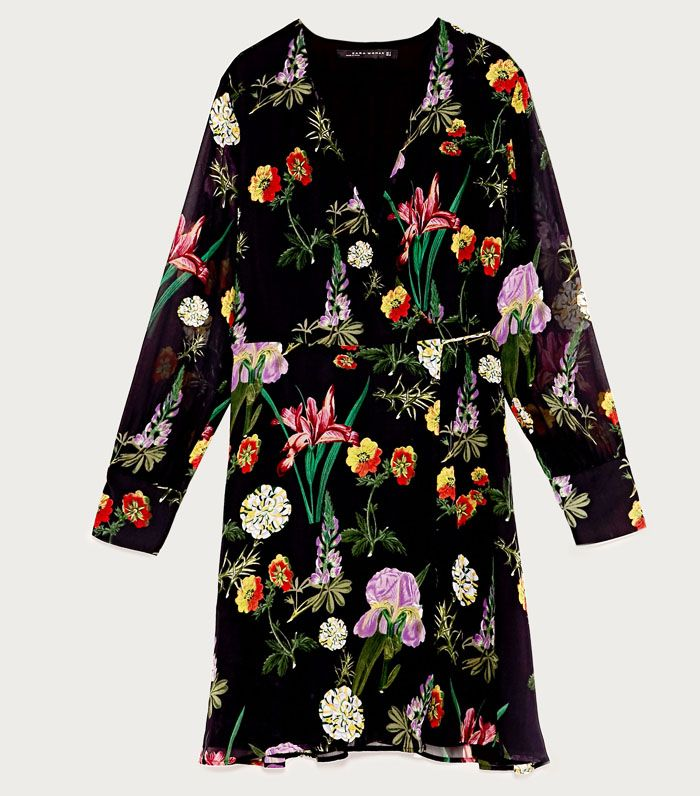 High Street Shopping Picks: Zara Printed Mini Wrap Dress