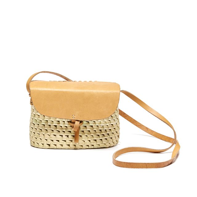 Soludos Merida Cross Body Woven and Leather Bag