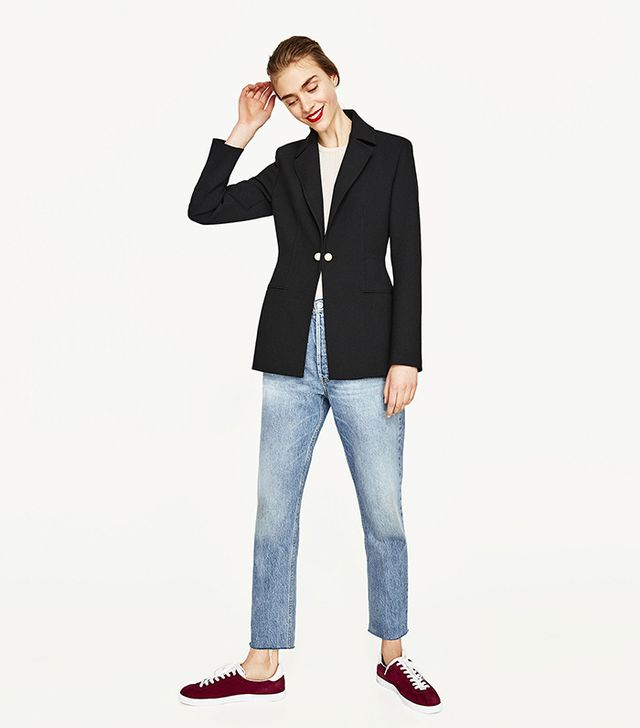 Zara Tailored Jacket with Twin Buttons