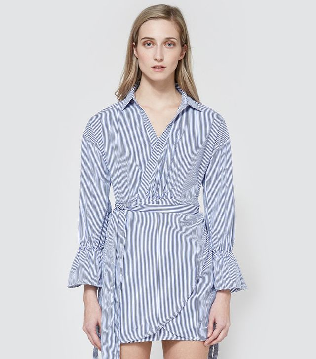 Farrow Striped Wrap Dress