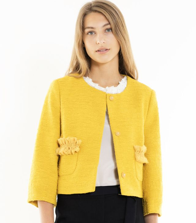 Max & Co. Boxy Woven Jacket With Ruching