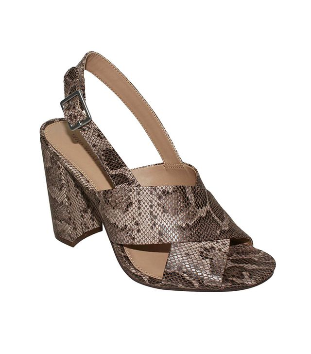 Who What Wear Harper Snake Print Crossband Sandals