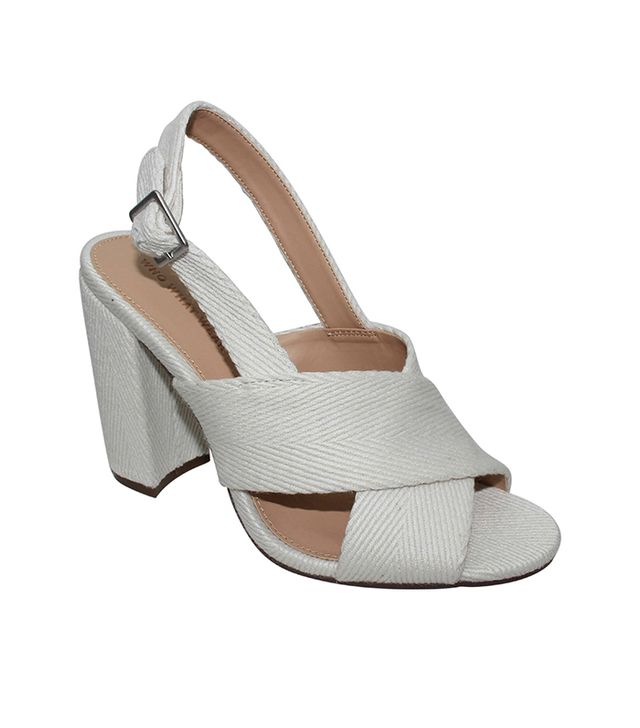 Who What Wear Harper Crossband Sandals in White