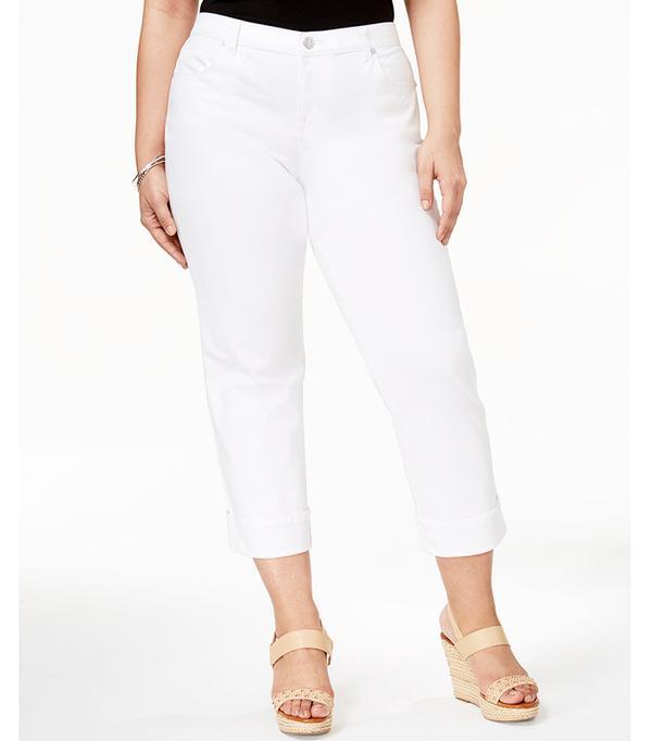 Style & Co. Plus Size Cuffed Capri Jeans