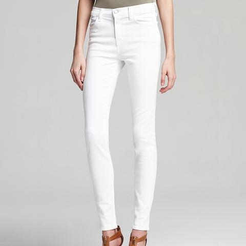 High Rise Maria Skinny Jeans in Blanx