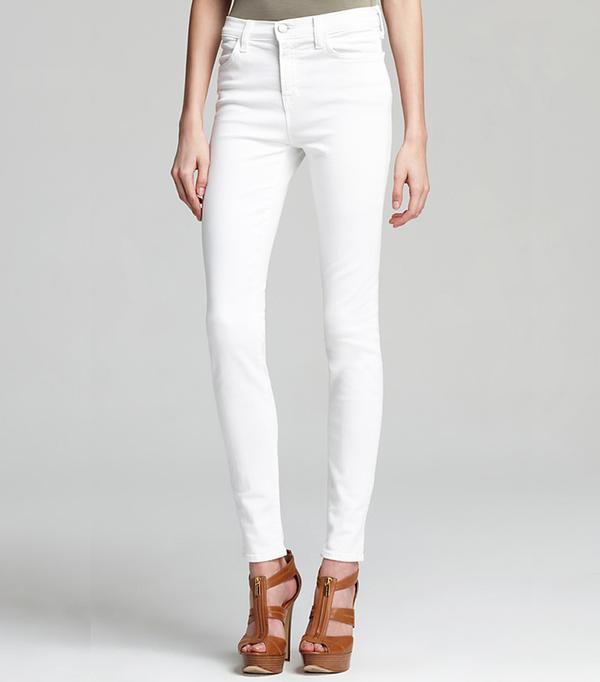J Brand High Rise Maria Skinny Jeans in Blanx