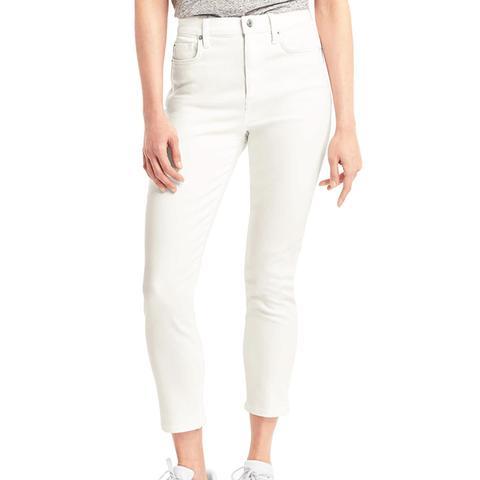 Super High-Rise True Skinny Crop Jeans