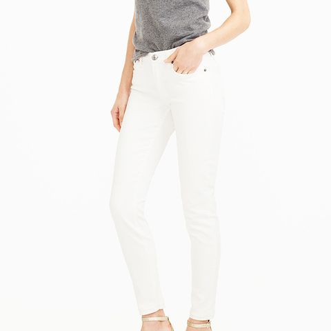 """8"""" Toothpick Jean in White"""