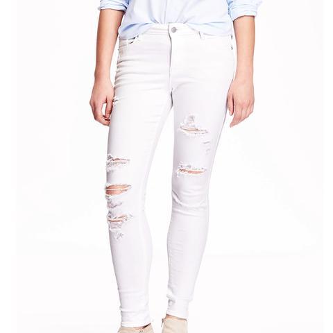 Mid-Rise Rockstar Distressed Jeans