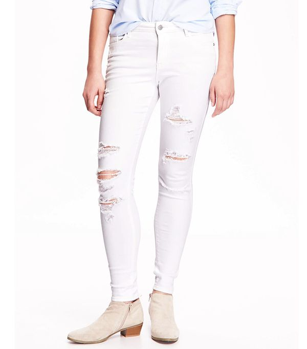 Old Navy Mid-Rise Rockstar Distressed Jeans