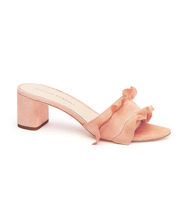 Loeffler Randall Vera Ruffle Slide Sandal