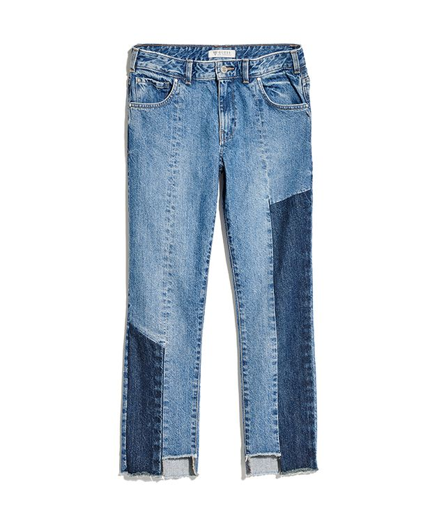 Guess Patched Relaxed Straight Jeans