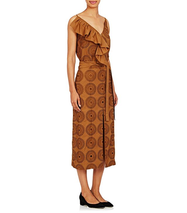 Nina Ricci Cotton Sleeveless V-Neck Dress