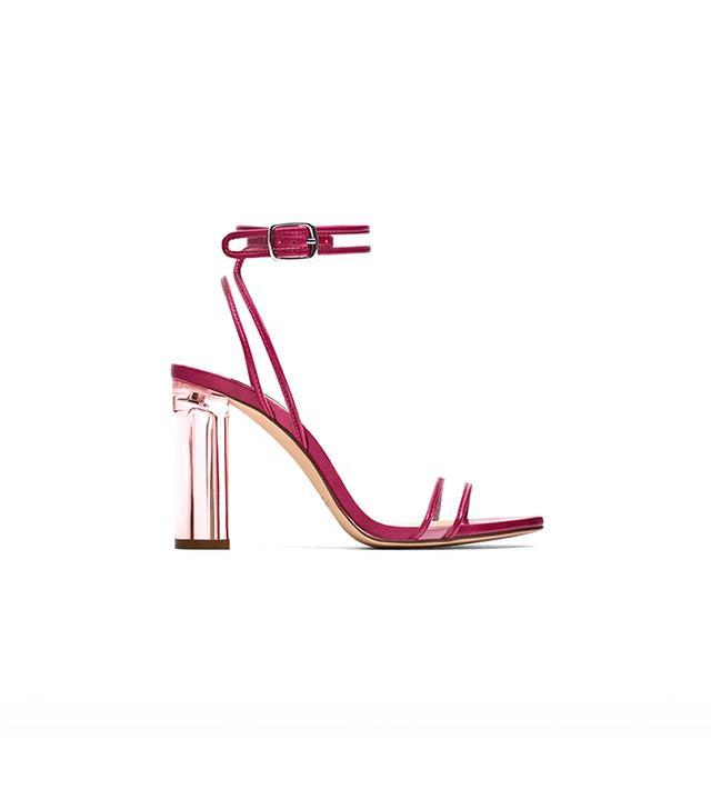 Zara Vinyl High Heel Sandals