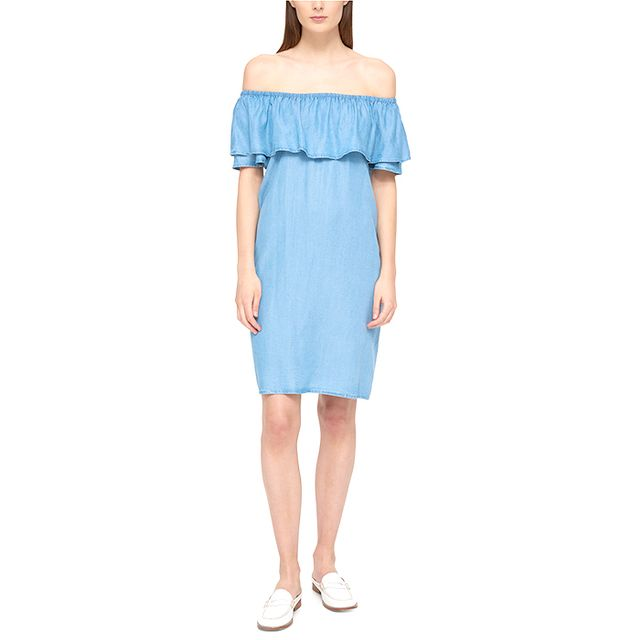 Tommy Hilfiger Ruffled Off-the-Shoulder Dress