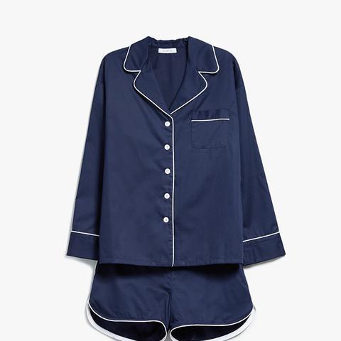 Navy Pajama Shorts Set