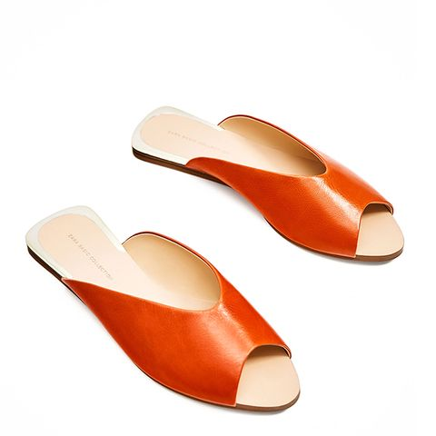 V-Cut Leather Shoes