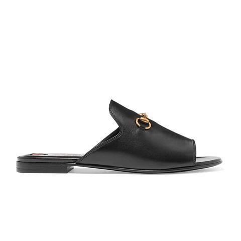 Horsebit-Detailed Leather Slides