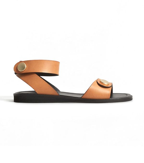best flat brown sandals for work