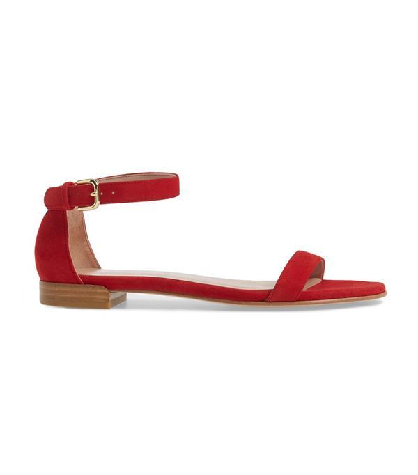 best flat red sandals