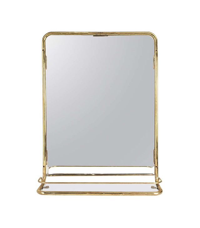 The Lockhart Collection Brass Stateroom Mirror