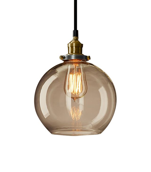 Restoration Hardware 20th Century Factory Filament Clear Glass Café Pendant