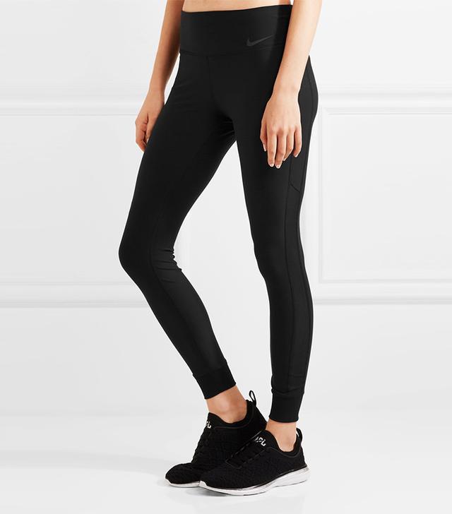 Nike Power Legend Mesh-Paneled Dri-Fit Stretch Leggings